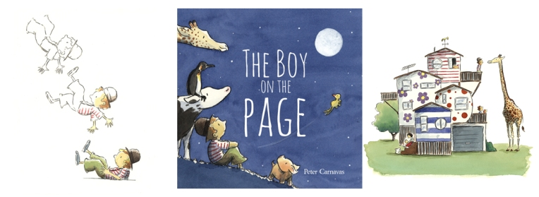 Boy on page heading